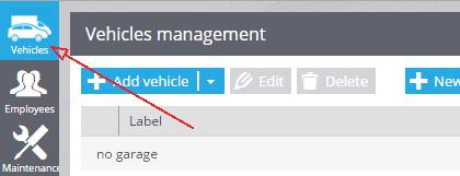 select vehicles tab