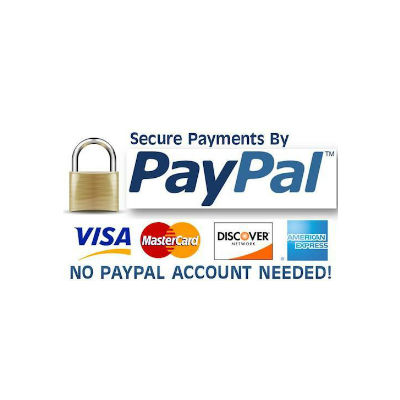 paypal or credit card payment logo